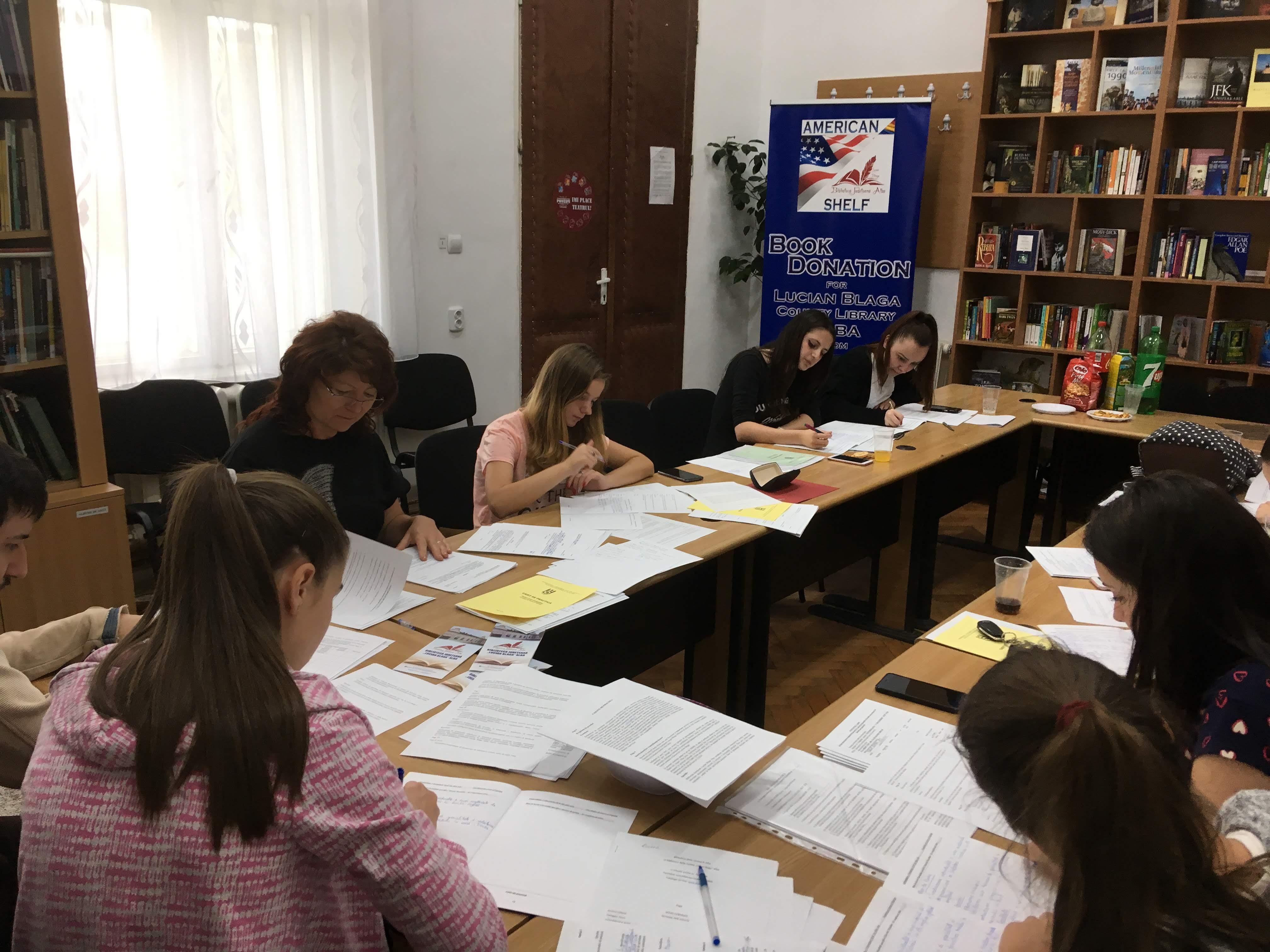 9 iulie 2018, practica studenților la Sala de lectură a bibliotecii